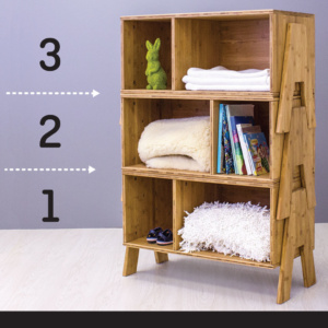 Bambu stacking shelf