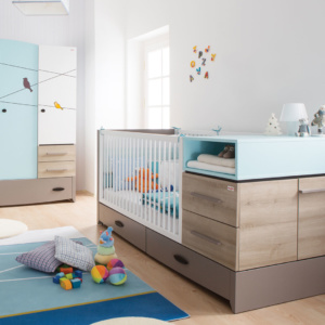 Blue 3-in-1 Birdy Cot