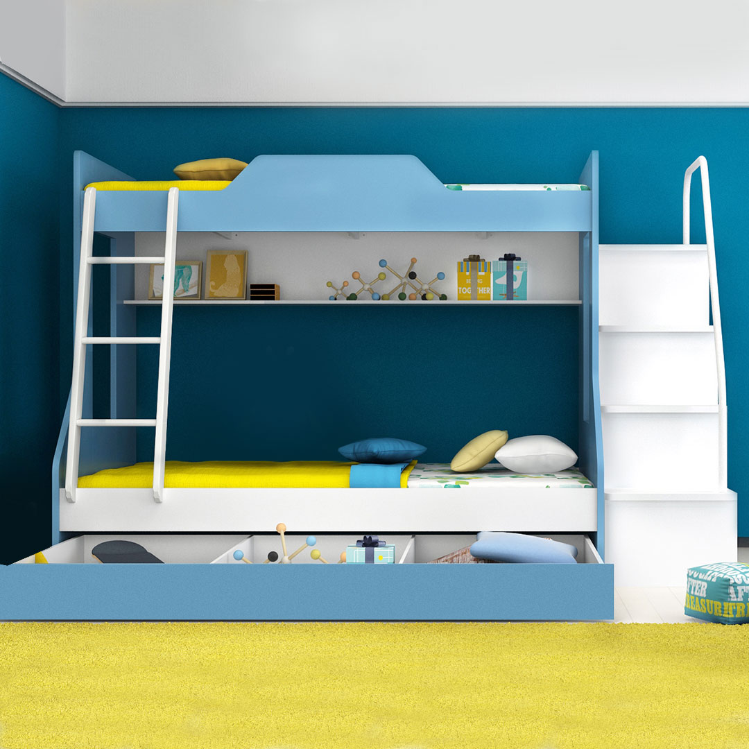 Kendall bunk bed with 3 4 bed clever little monkey for Beds 4 sale