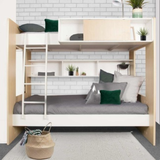 Dillon Bunk Bed - Woodgrain & White