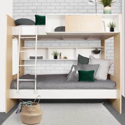 Dillon Bunk Bed - Woodgrain & White