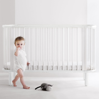 5-in-1 Baby Cot Bed - White