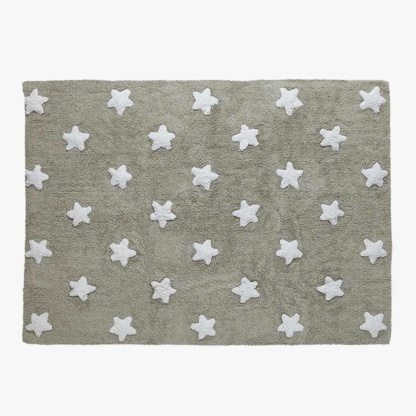 Lorena Canals Stars Grey & White Rug