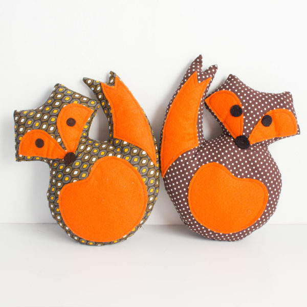 Orange mini fox scatters