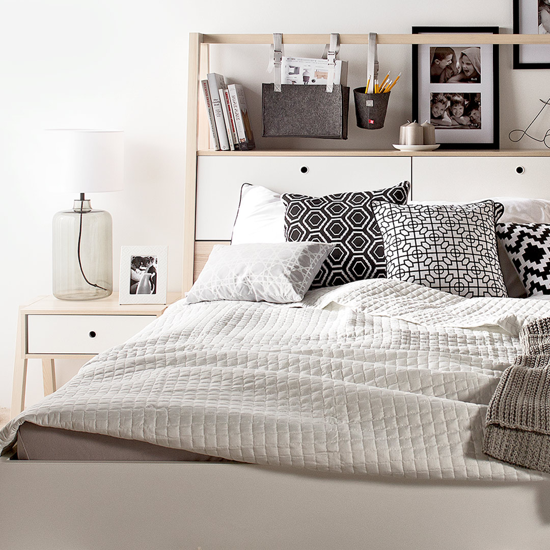 Spot Double Bed with Headboard Storage