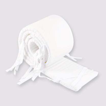 Bunni White Cot Bumper Cover