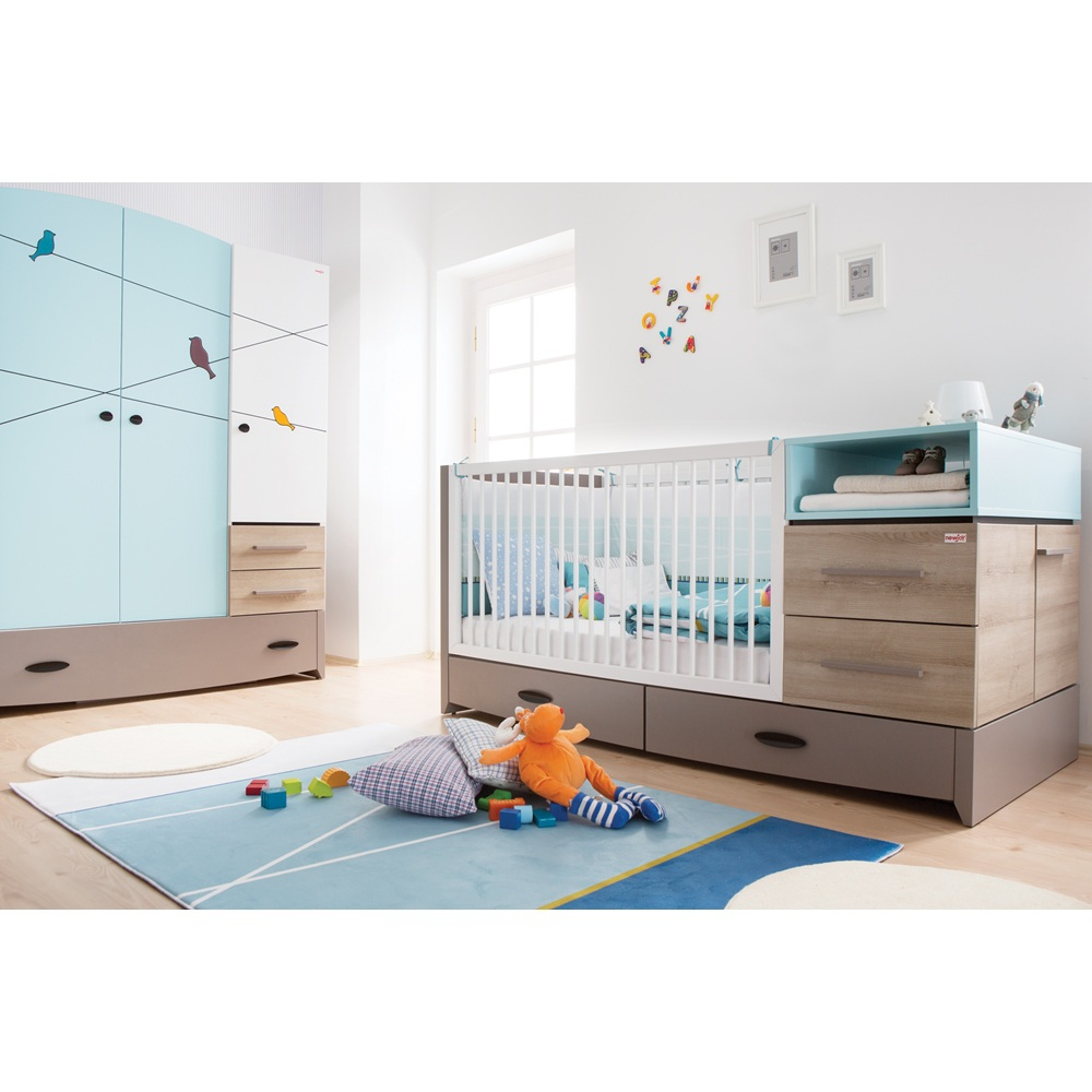 Baby cribs co za -  Blue Birdy Lifestyle Cot Baby