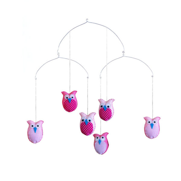 Owl Mobile - Pink