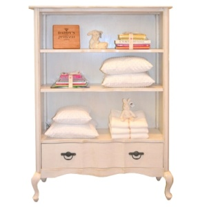Isabella Bookshelf French Wash White