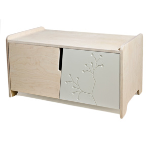 Bird & Berry Nightstand - Milk