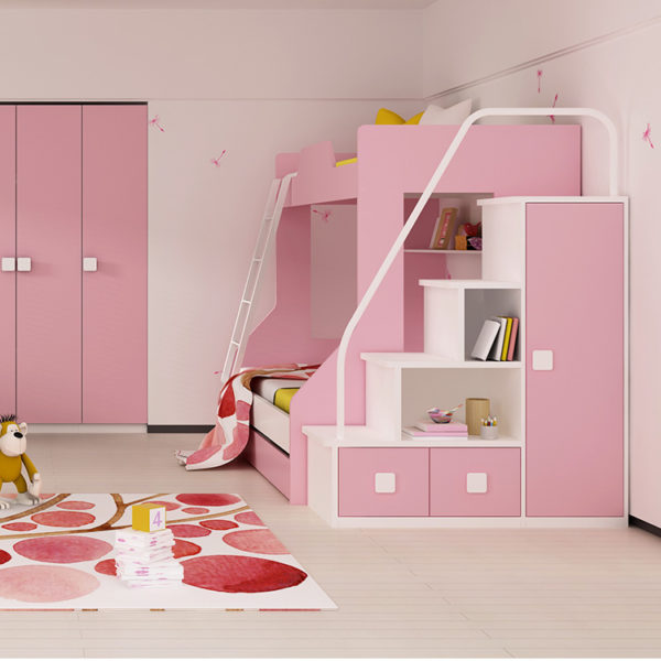 Kendall Bunk Bed - Pink