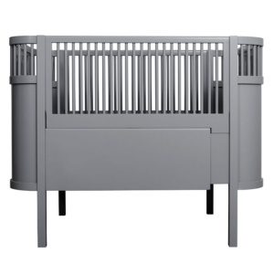 Kili Baby Cot & Junior Bed - Dark Grey
