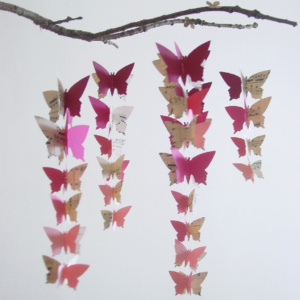 Ombre Butterfly Mobile