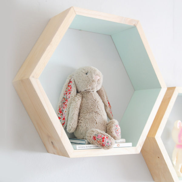 Hexagon Wall Shelf - Mint