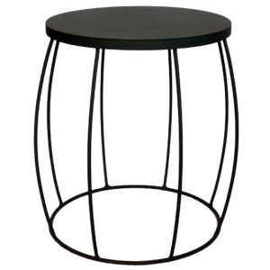 Barrel Side Table - Black