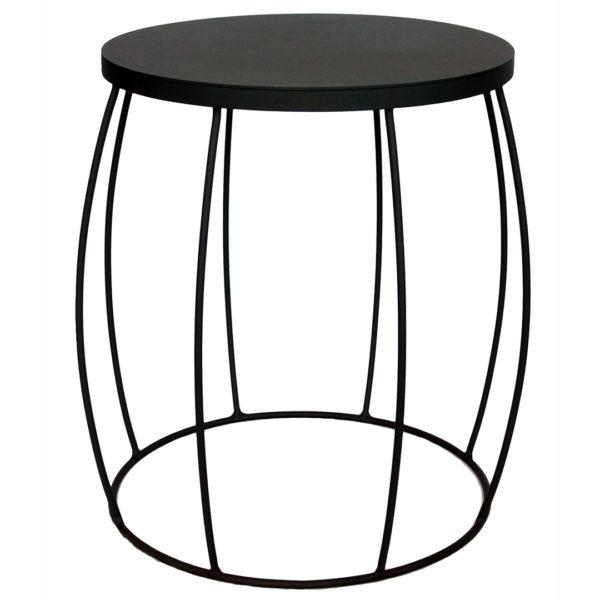 Barrel Side Table - Black