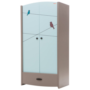 New Joy Birdy Blue Wardrobe (2 Doors)