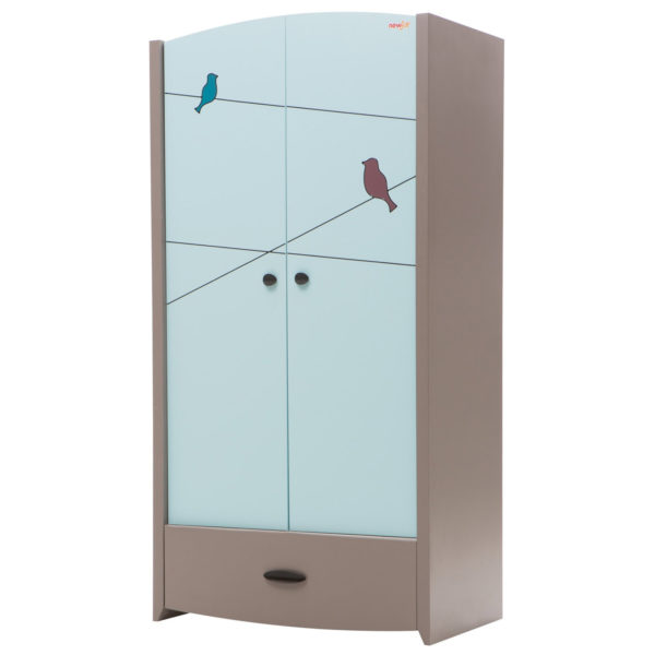 Birdy Blue Wardrobe (2 Doors)