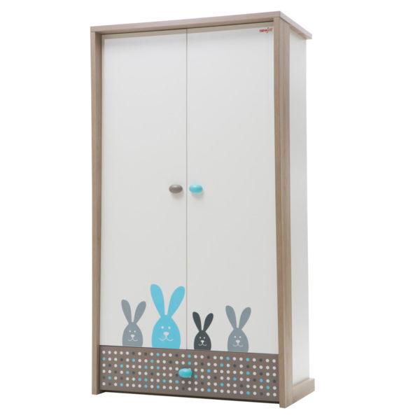 Bunny Wardrobe (2 Doors) - Blue