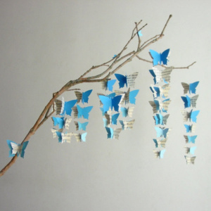 Blue Ombre Butterfly Mobile
