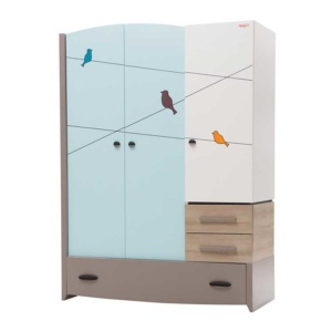 Birdy Blue Wardrobe (3 Doors)