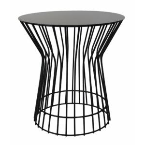 Drum Side Table - Black