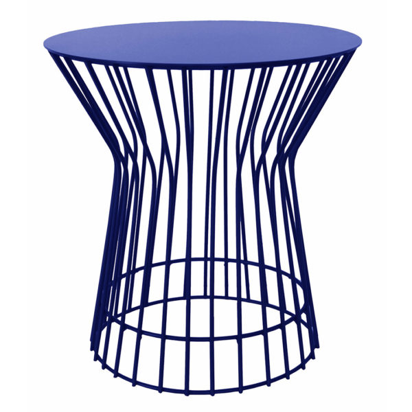 Drum Side Table - Blue