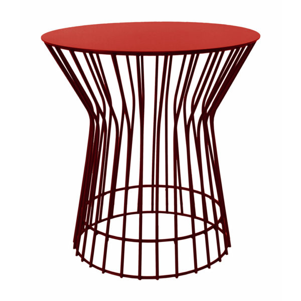Drum Side Table - Red
