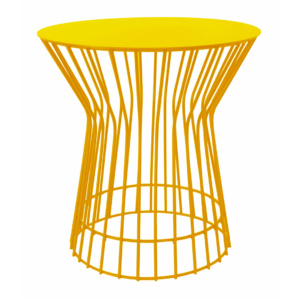 Drum Side Table - Yellow