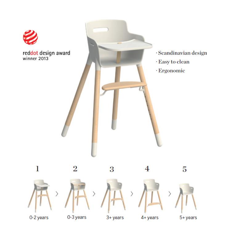 Flexa High Chair   Natural