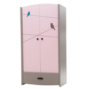 Birdy Pink Wardrobe (2 Doors)