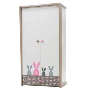 Bunny Wardrobe (2 Doors) - Pink