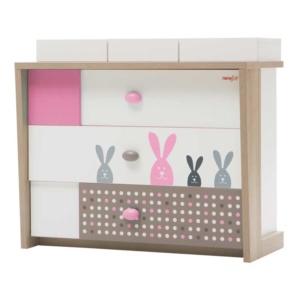 Bunny Compactum & Dresser - Pink