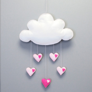 Pink Heart Cloud Mobile