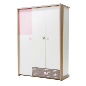 Pink Point Wardrobe (3 Doors)