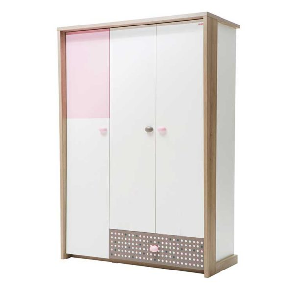 Pink Point Wardrobe (3 Doors)