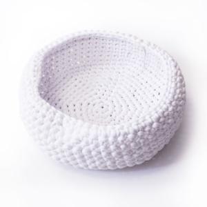 White Cotton Basket