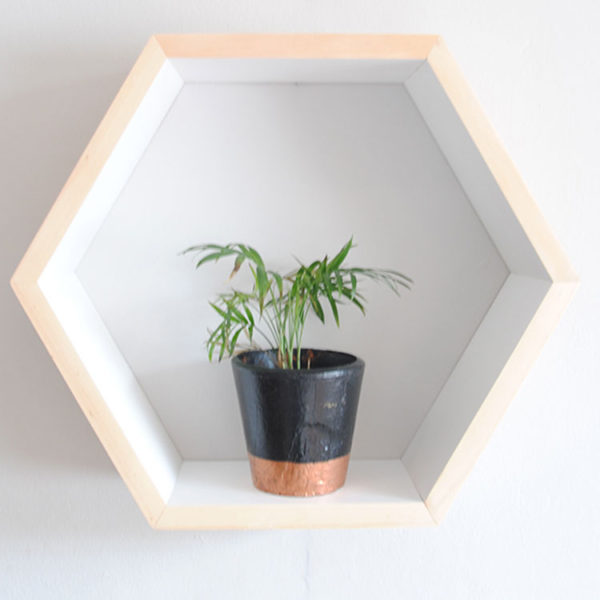 Hexagon Wall Shelf - White