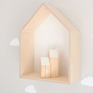 House Shadow Box - White