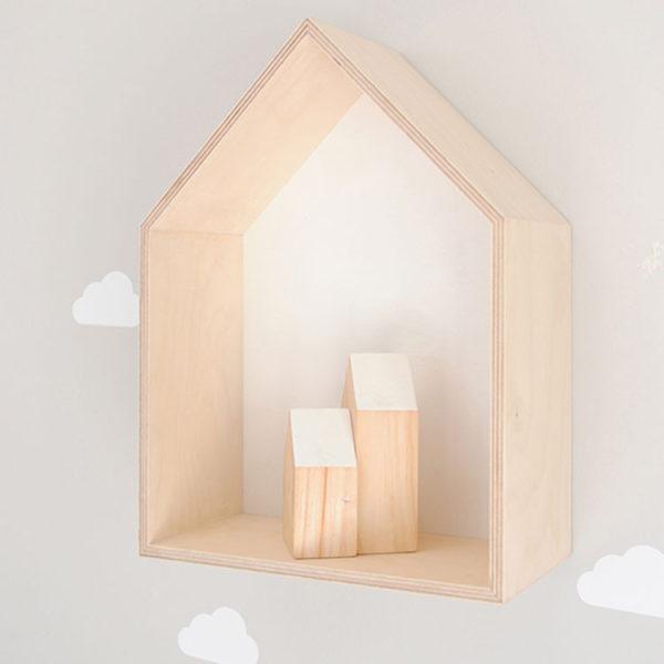 House Shadow Box - White