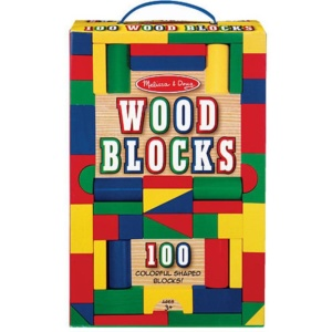 100 PIECE LIGHT WOOD BLOCKS SET
