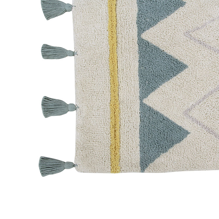 Aztec Natural Rug Vintage Blue Clever Little Monkey