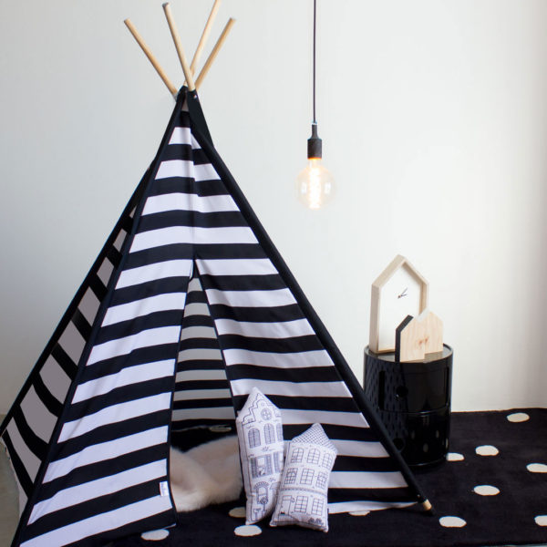 Striped Black & White Teepee