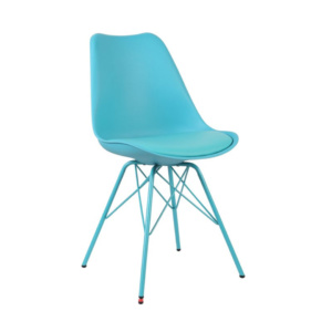 Blue Eames Style Metal Char