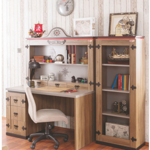Pirate Desk and Bookcase Lifestyle