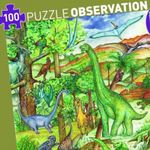 Dinosaurs-Puzzle-and-Booklet-100-pcs-Djeco