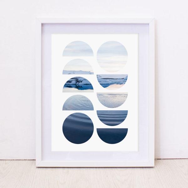 Geo Sea Art Print