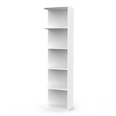 Loki Arctic White Corner Shelf