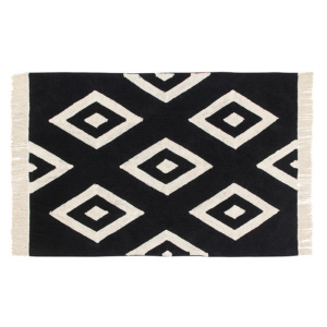 B&W Diamonds Rug
