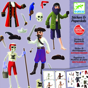 Pirates-Paper-Dolls-With-Re-Usable-Stickers-Djeco